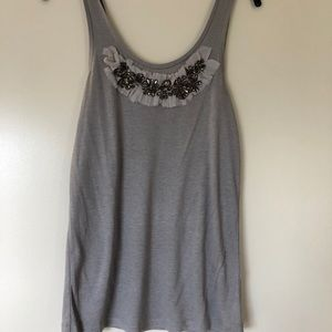 Cotton tank with detail